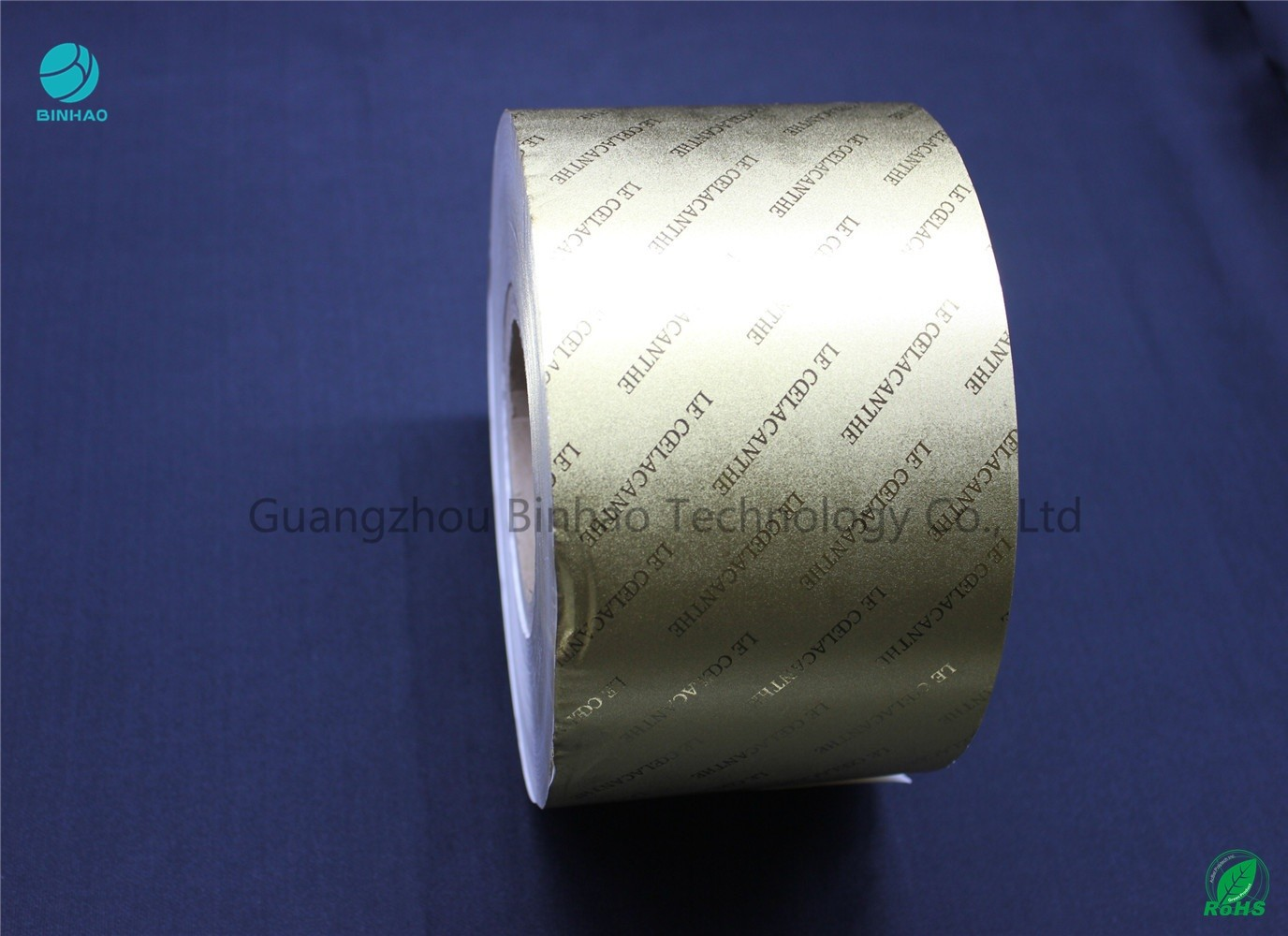 Composite Gold / Silver Aluminum Foil Paper With Embossing Brand Name Or Logo 55gsm